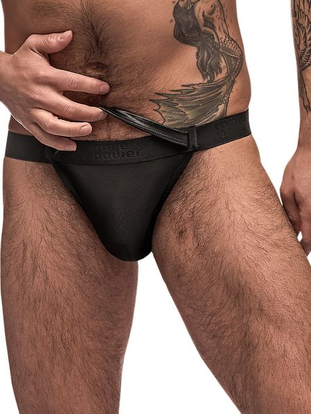 Male Power Grip & Rip: Rip-Off Bikini Brief, schwarz