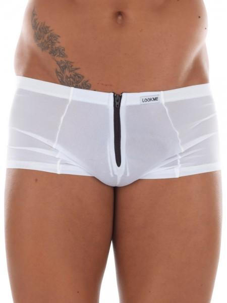 Look Me Wiz: Zip-Minipant, weiß