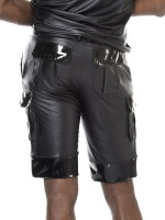 Patrice Catanzaro Tom: Wetlook-Short, schwarz