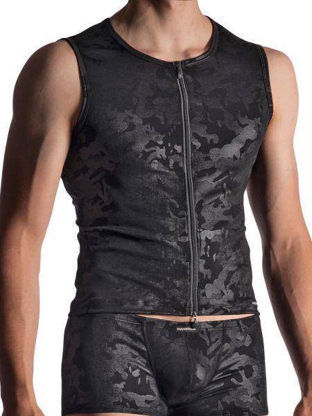 MANSTORE M950: Zipped Vest, schwarz