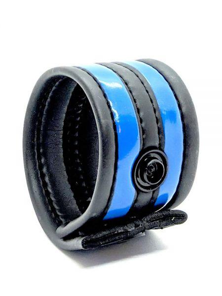Neoprene Racer Ball Strap: Hodenring, schwarz/blau