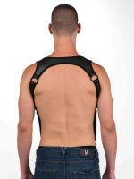 Neoprene Heckler: Hosenträger-Harness schwarz