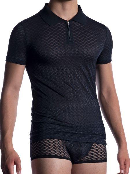 MANSTORE M2053: Polo Shirt, schwarz/schwarz