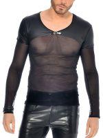 Patrice Catanzaro Lannister: Netz-Shirt, schwarz