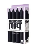 Make Me Melt Sensual Candles: SM-Kerzen-Set, schwarz