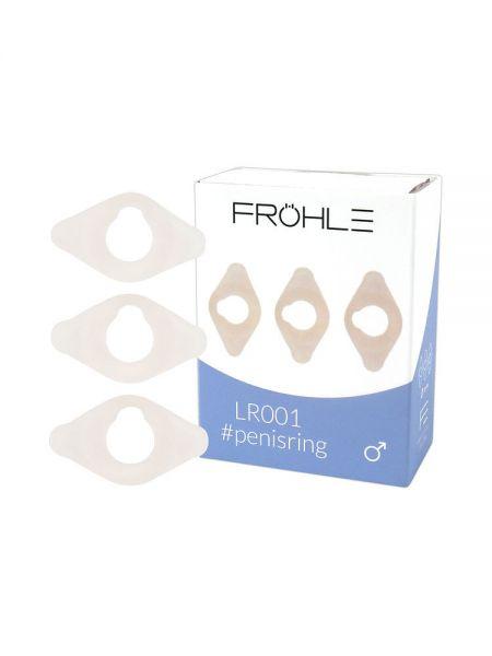 Fröhle: LR001 Penisring 3er-Set, transparent