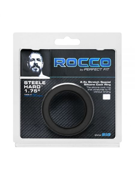 Perfect Fit The Rocco Steel Hard Cock Ring: Silikon-Penisring, schwarz