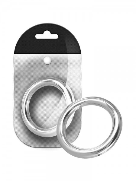 Black Label Stainless Steel Round Cock Ring 6 mm: Edelstahl-Penisring