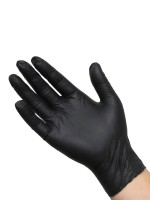 Latex-Einmalhandschuhe 100er Pack, schwarz