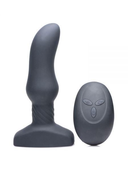 Slim M Curved Rimming Plug: Vibro-Analplug, schwarz
