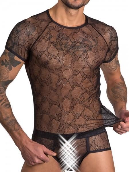 Eros Veneziani Adamo: T-Shirt, schwarz