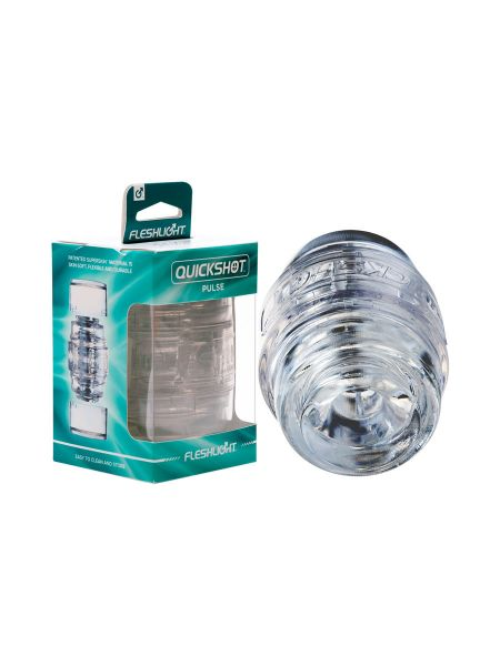 Fleshlight Quickshot Pulse: Masturbator, transparent