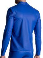 MANSTORE M2111: Zipped Longsleeve, blau