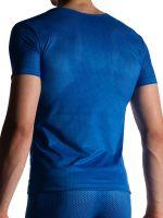 MANSTORE M955: V-Neck-Shirt, blau