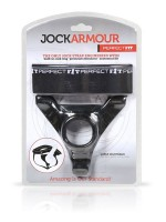 Perfect Fit Jock Armour Extra Large: Jock mit Penis-/Hodenring, schwarz