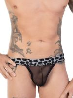 Eros Veneziani Leopardo: Netz-String schwarz/grau