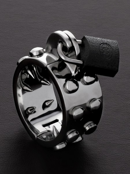 Triune Kalis Teeth Spiked Chastity: Edelstahl-Penisring mit Spikes