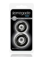 Renegade Double Stack: Penisring 2er Set, Schwarz