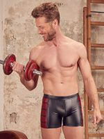 NEK Wetlook Zip-Pant, schwarz/rot