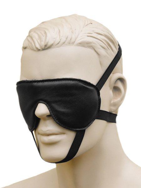 XxdreamSToys: Leder-Augenmaske, schwarz