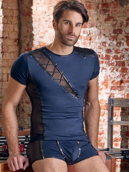 NEK: Herren-T-Shirt, blau/schwarz