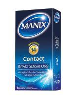 Manix Contact: Kondome 14er Pack, Vanille/transparent
