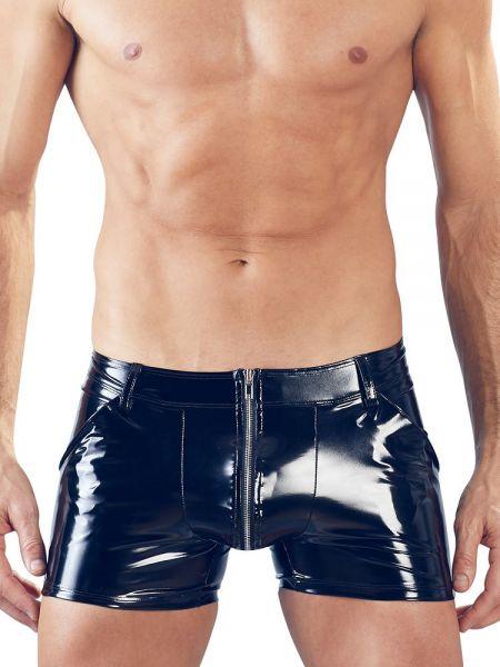 Lack-Pant, schwarz