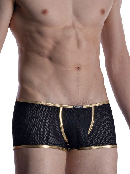 MANSTORE M2008: Bungee Pant, schwarz/gold
