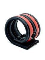 Neoprene Racer Ball Strap: Hodenring, schwarz/rot