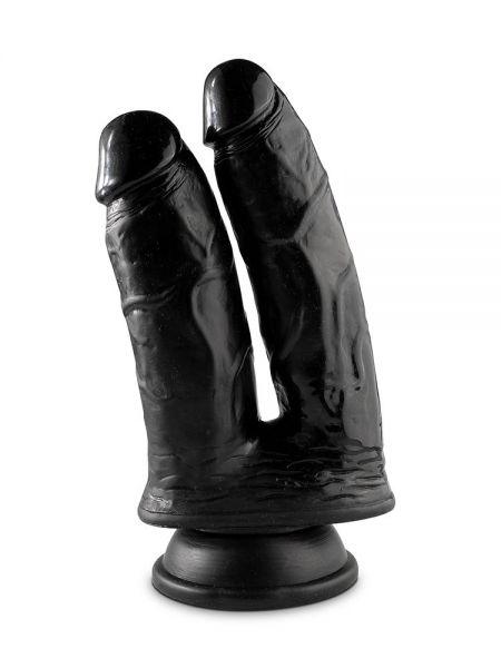 Mr. Cock Double Cock: Doppeldildo 23 cm, schwarz
