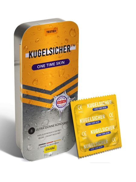Kugelsicher One Time Skin: Ultra-dünne Kondome, 8er Pack