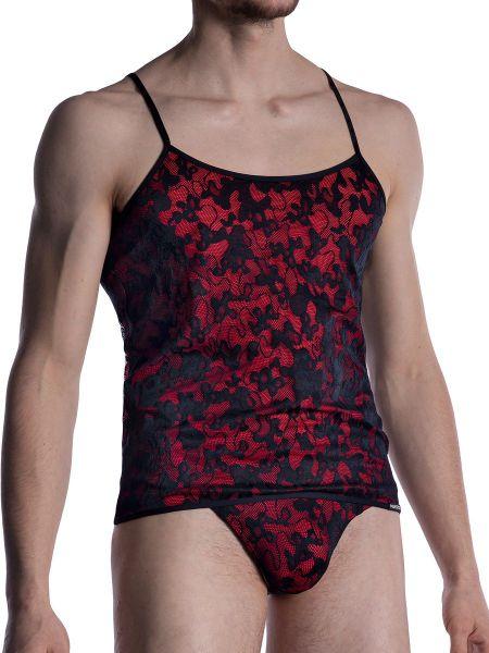 MANSTORE M2006: Shemale Shirt, schwarz/rot