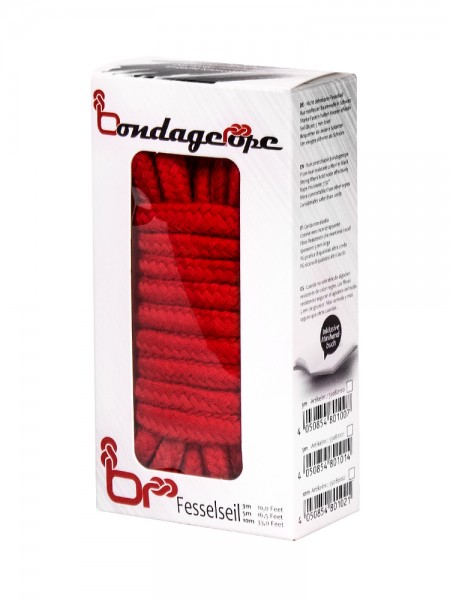 Bondage Rope: Bondageseil, rot (10m)