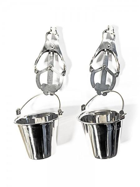 Black Label Stainless Steel Jugs Nipple Clamps: Edelstahl-Nippelklemmen