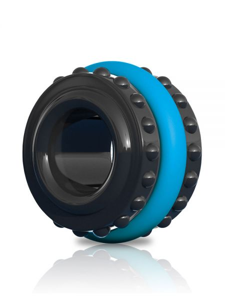 Sir Richards Pro Performance: Penisring 2-teilig, blau/schwarz
