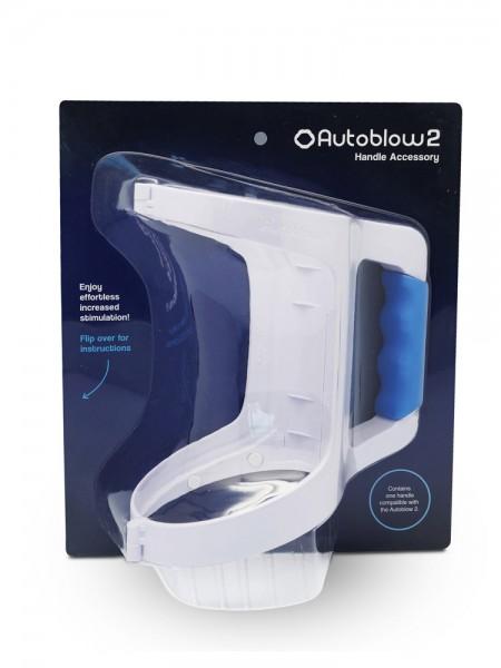 Easy Grip Handle: Griff für Autoblow 2 Masturbator, weiß/blau