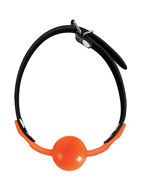 Orange: Mundknebel, schwarz/orange