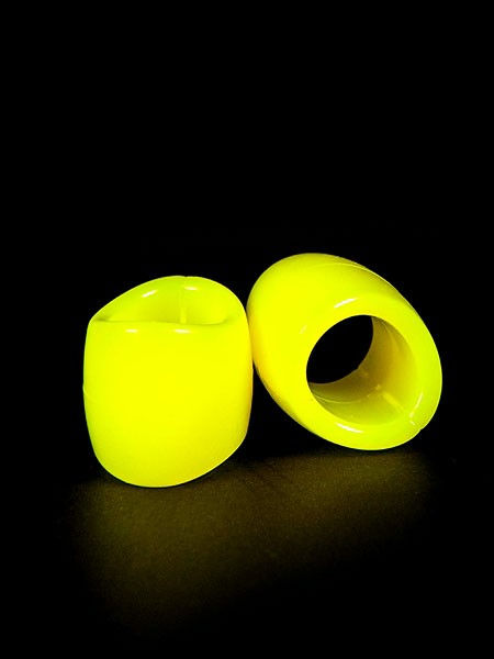 Zizi Plasma: Penis-/Hodenring-Set, neongelb