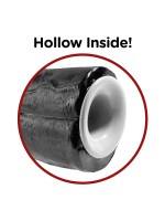 """King Cock Hollow 11"""" Two Cocks One Hole: Strap-On (hohl), schwarz"""
