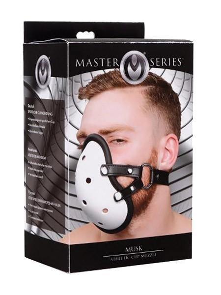 Master Series Musk: Tiefenschutz-Maulkorb, weiß/schwarz