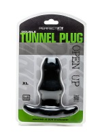 Perfect Fit Double Tunnel Plug XL: Analtunnel, schwarz
