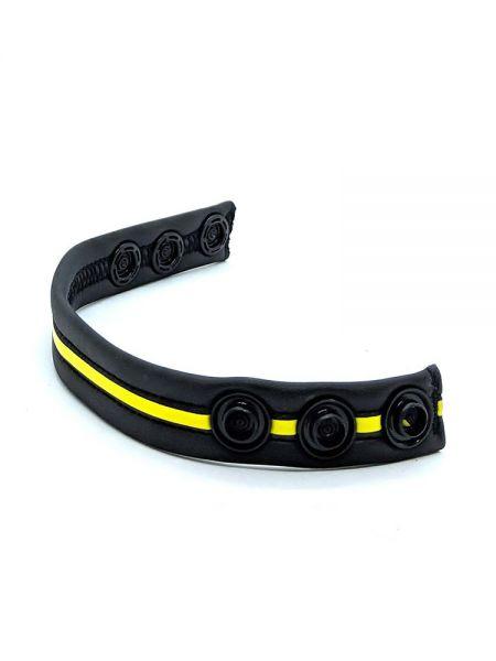Neoprene Racer Gun Strap: Penisring, schwarz/gelb