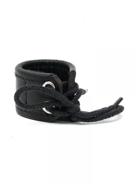 Leder-Hodenstretcher 3cm, schwarz