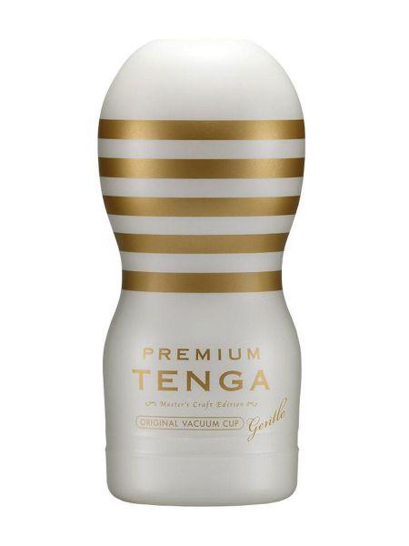 Tenga Premium Original Vacuum Cup Gentle: Masturbator, weiß/gold