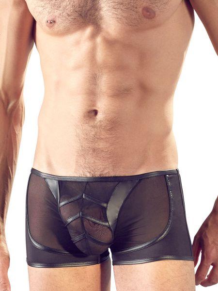 Netz-Mattlook-Pant, schwarz