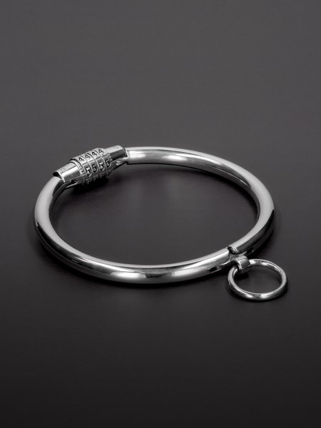 Triune Collar with Combination Lock: Edelstahl-Halsfessel