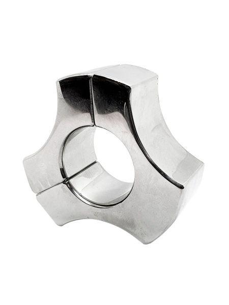 Black Label Stainless Steel Triad Magnetic Ball Stretcher: Edelstahl-Hodenring