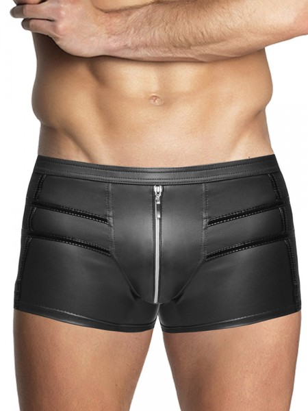 Noir Handmade: Wetlook-Short, schwarz