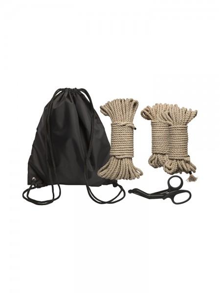 Kink Bind & Tie Initiation Kit: Bondageseile-Set, natur