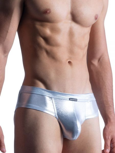 MANSTORE M861: Beach Cheeky Brief, silber